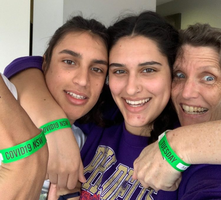 family with wrist bands